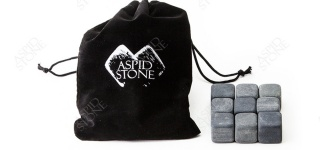 Камни для виски (9 шт + бархатный мешок)