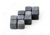 100 Комплектов из 9 камней для виски в мешочке с лого и визиткой