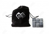 150 Комплектов из 9 камней для виски в мешочке с лого и визиткой