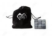 200 Комплектов из 9 камней для виски в мешочке с лого и визиткой