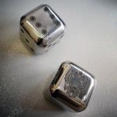 Стальные камни для виски с лазерной гравировкой