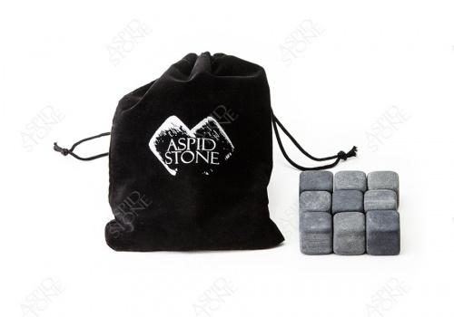 """3 Комплекта из """"9 камней для виски + бархатный мешок"""""""