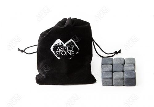 """5 Комплектов из """"9 камней для виски + бархатный мешок"""""""